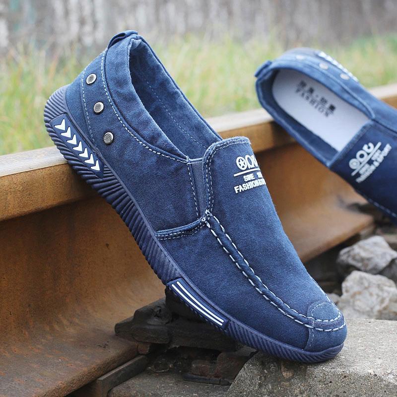 men's summer canvas slip on shoes
